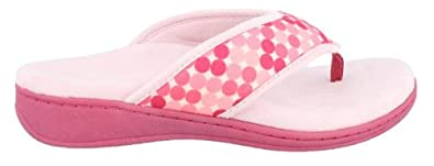 Orthaheel Vionic With Orthaheel Technology Womens Bliss Orthatic Slipper Sandal Pink Dots