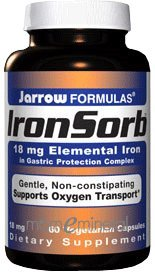 IronSorb 18 mg 60 caps by Jarrow Formulas
