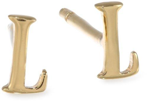 gorjana Mini Alphabet L Stud Earrings