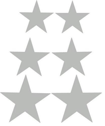 Fun Reflector Silver Star Bicycle Reflective Reflector Sticker
