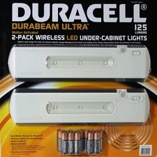 Duracell Durabeam Ultra 2 Pack Wireless LED Under Cabinet Lights Motion  Activated