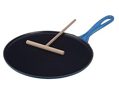 Le Creuset Enameled Cast-Iron 10-2/3-Inch Crepe Pan, Marseille