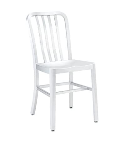 Modway Deck Dining Side Chair, Silver