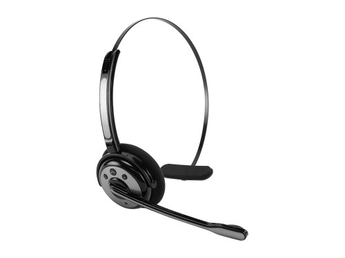 Cellet Wireless Bluetooth Headset With Boom Microphone - Black/Gray