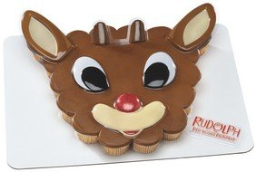 Rudolph Face 5 Pc Decoplac for 24 Cupcakes Cake Topper Decoration
