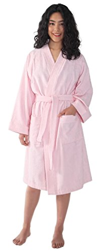 Arus Women's Short Kimono Turkish Cotton Terry Cloth Robe