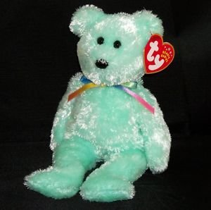1 X TY Beanie Baby - SHERBET the Bear (Green Version)