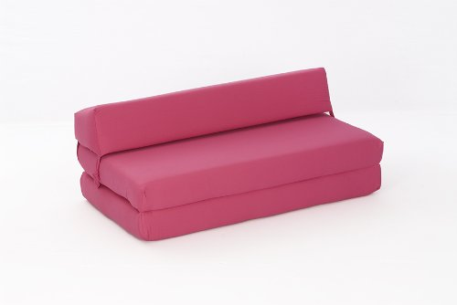Mia Double Chair Bed in PINK Cotton Drill