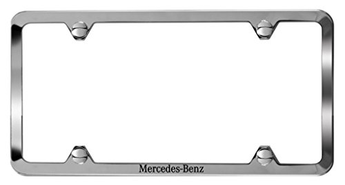 genuine-mercedes-slimline-frame-with-mercedes-benz-etching-polished-stainless-steel