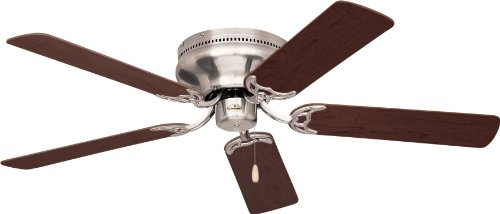 Emerson Cf805Sbs Snugger Indoor 52-Inch 5-Blade Ceiling Fan With Dark Cherry/Mahogany Blades, Brushed Steel