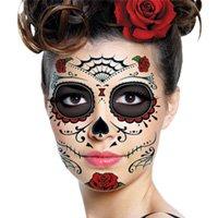Amazon.com : Sugar Skull Makeup Temporary Tattoo : Day