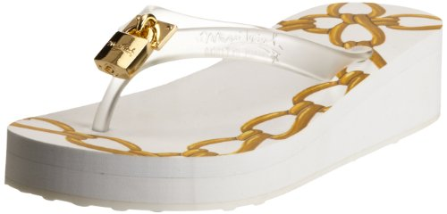 Miss Trish Womens Lock Clear/White Thong Sandals MTR13-118 3 UK, 36 EU, 5 US, Regular