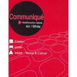 Communique - Etichette multiuso, 6 per foglio, 99,1 x 93,1 mm