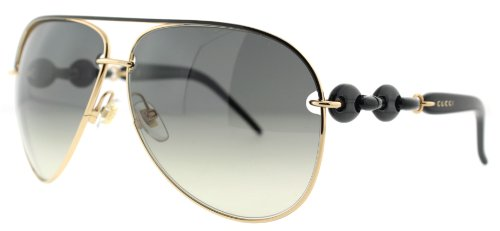 Gucci Gucci 4225 WPO Black Rose Gold 4225 Aviator Sunglasses Lens Category 2