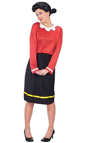[Mememall Fashion Classic Olive Oyl Popeye Adult Halloween Costume] (Olive And Popeye Halloween Costume)