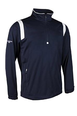 Glenmuir Mens Zip Neck Long Sleeve Panel Golf Windshirt by Glenmuir