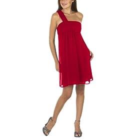 Shoulder Bridesmaid Dress on Bridesmaid Dresses  Women S One Shoulder Bridesmaid Dress   Red