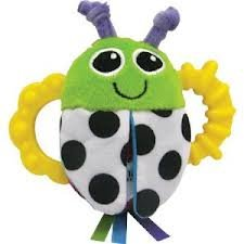Lamaze High-Contrast Flip-Flop Bug Rattle