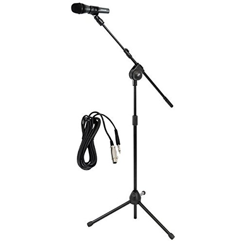PYLE-PRO PMKSM20 Microphone and Tripod Stand With Extending Boom and Mic Cable Package (Microphone Stand Boom compare prices)