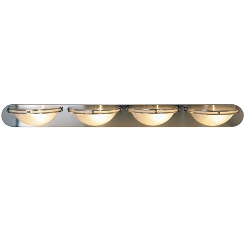 Af lighting 617609 contemporary lighting collection vanity - 8 light bathroom fixture brushed nickel ...