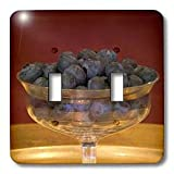 Danita Delimont – Fresh Fruits – Bowl of blueberries, fresh fruits – LI06 BJA0006 – Jaynes Gallery – Light Switch Covers – double toggle switch