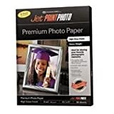 Jet PRINT PHOTO Premium High Gloss Finish Paper, 8-1/2 x 11, 60/Pack