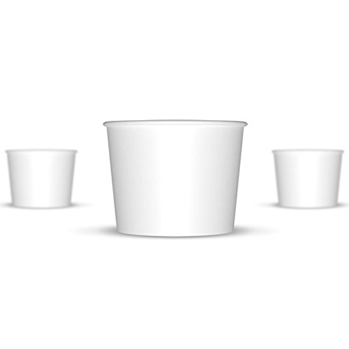 12 oz Ice Cream Cups, White Paper Cups, Birthday Party Cups-These Disposable Containers Are What You Need For Your Party, These Frozen Dessert Cups Are Great For Ice Cream, Or Other Sweet Treats! (Paper Ice Cream Cups 12 Oz compare prices)