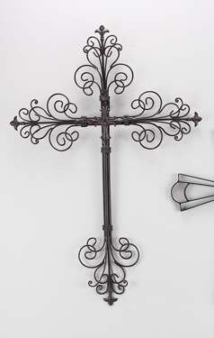 Young's Metal Cross Wall Art, 24-Inch
