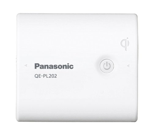 Panasonic Qi対応(無接点充電対応) USBモバイル電源 リチウムイオン【フラストレーションフリーパッケージ(FFP)モデル】 5,400mAh 白 QE-PL202X-W