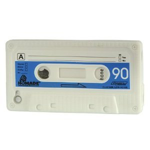 iPhone 4 / 4G White Silicone Cassette Tape Case