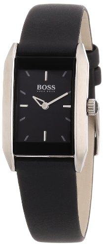 Hugo Boss 1502233 - Reloj analógico de mujer de cuarzo con correa de piel negra