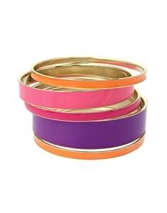 Lipsy Pink Enamel Bangle Pack