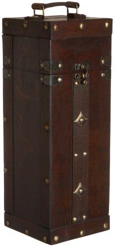 Imagen de Fabricaciones verdadero vino de la caja de madera simple botella de vino titular
