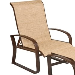 Martinique Sling Adjustable Lounge Chair - Sling - Aluminum Patio Furniture