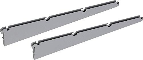 IB-Style - Regalsystem EASY TWIN Drahtbodenträger | Pro Stück | silbermatt | 420 mm | Made in Germany | TÜV geprüft | GS Zeichen |Wandleiste Wandschiene Träger Halterung