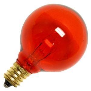 Bulbrite 10G12A 10W G12 Globe 120V Light Bulb, Amber