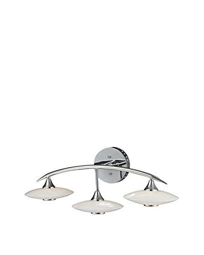 Artistic Lighting 3-Light LED Glass Wall Lamp, Chrome