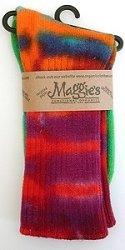 Maggie's Functional Organics - Singles Sizes 10-13 - Tie Dye Crew Socks