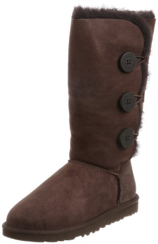 Ugg Australia Women's Bailey Button Triplet Chocolate Flat 1873Chocolate8  6.5 UK