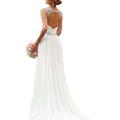 dd3059abcad5 Ruiyuhong Chiffon Beading Beach Wedding Dresses Open Back Birdal gowns 02