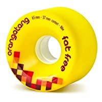 ORANGATANG Longboard Wheels FAT FREE 65mm 86a YELLOW Set of 4