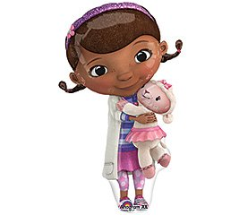 ONE (1) Doc McStuffins XL Happy Birthday PARTY balloons Decorations Supplies