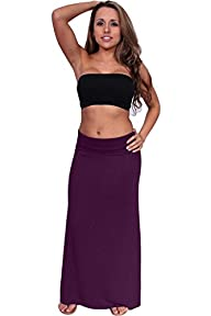Women's Maxi Skirt Rayon Span Fold ov…