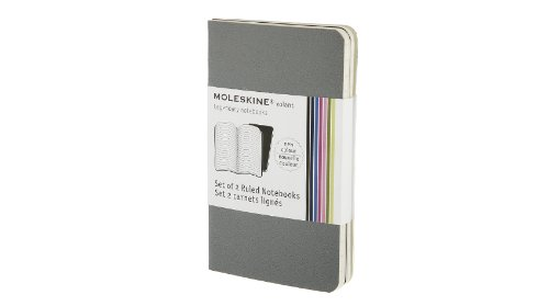 Moleskine Volant Notebook Ruled, Grey XSmall: 
