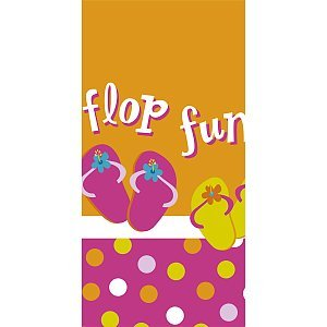 Flip Flop Fun 54 Inch x 102 Inch Table Cover Plastic - Each
