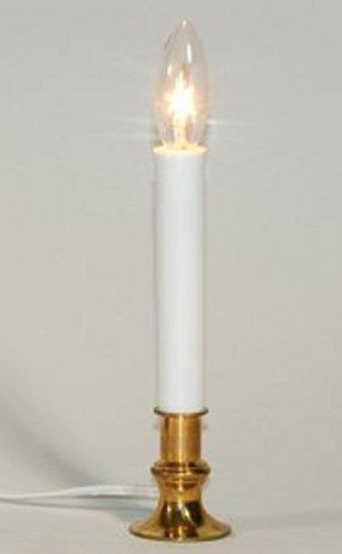 Small Brass Based Candlelight Electrified Night Light