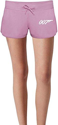 007 James Bond Sweat Shorts Estivi per Donne Summer Sweat Shorts For Women & Ladies | 80% Cotton-20%Polyester| DTG Printing| Unique & Custom X-Large