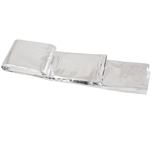 """Outdoor Emergency Rescue Solar Thermal Space Mylar Blanket 51.2"""" X 82.6"""" front-949988"""