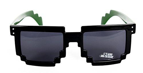 DealMagik Gafas de sol de friki-gamer negras de 8 bit