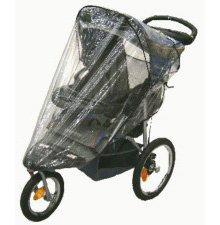 Sashas Rain And Wind Cover For Baby Trend Single Front Swivel Wheel Expeditions And Ride Stroller front-3200